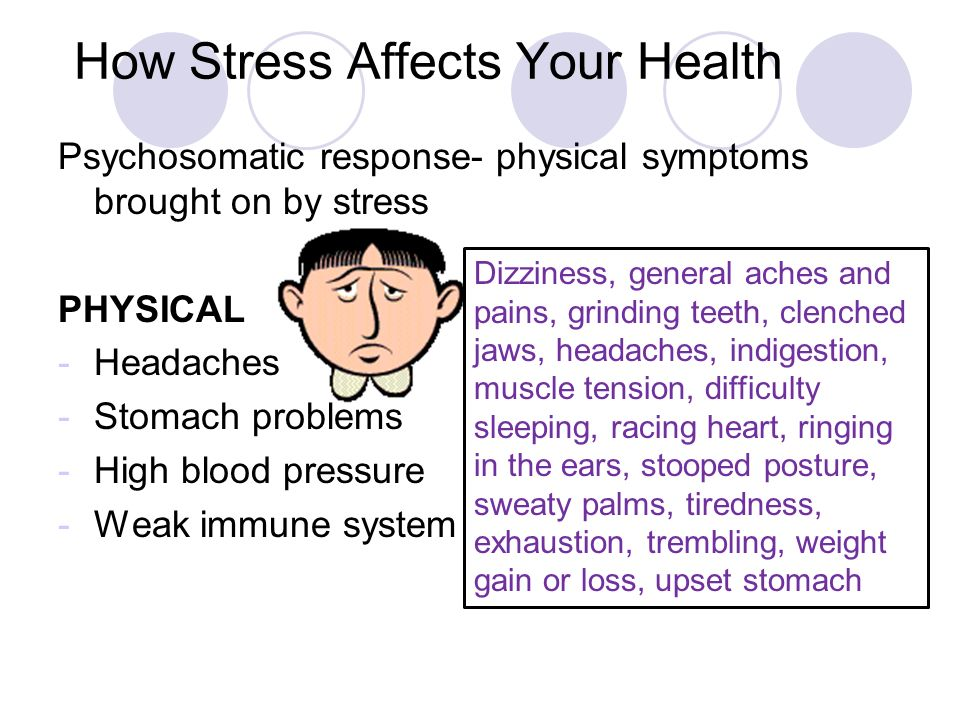 how stress affects physical health When people talk about wellness, they often separate mental and physical health , as if one doesn't directly correlate with the other your mind.