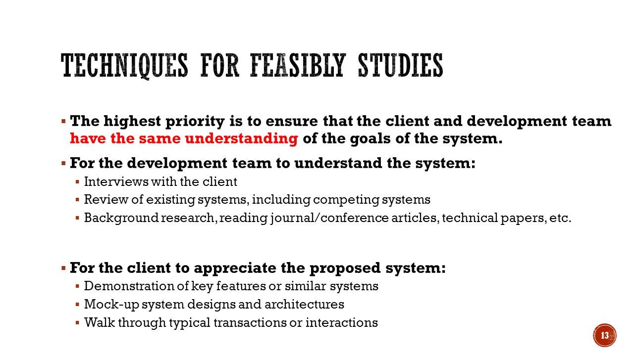 proposed system feasibility essay A feasibility study evaluates the project's potential for success therefore,  legal  feasibility determines whether the proposed system conflicts with legal.