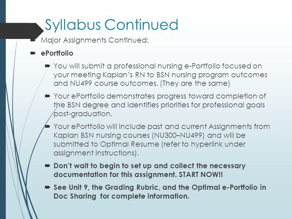 11 Syllabus ...  Kaplan Optimal Resume