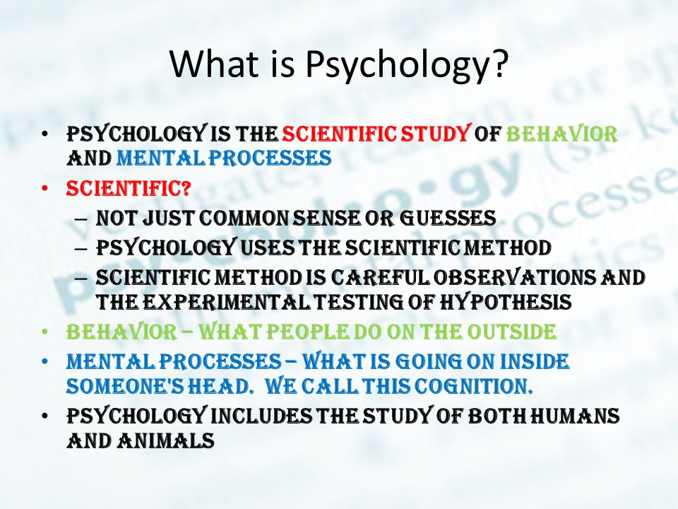 functions of scientific psychology There's no voodoo magic involved the four main goals of psychology are to describe, explain, predict and control the behavior and mental processes of others.