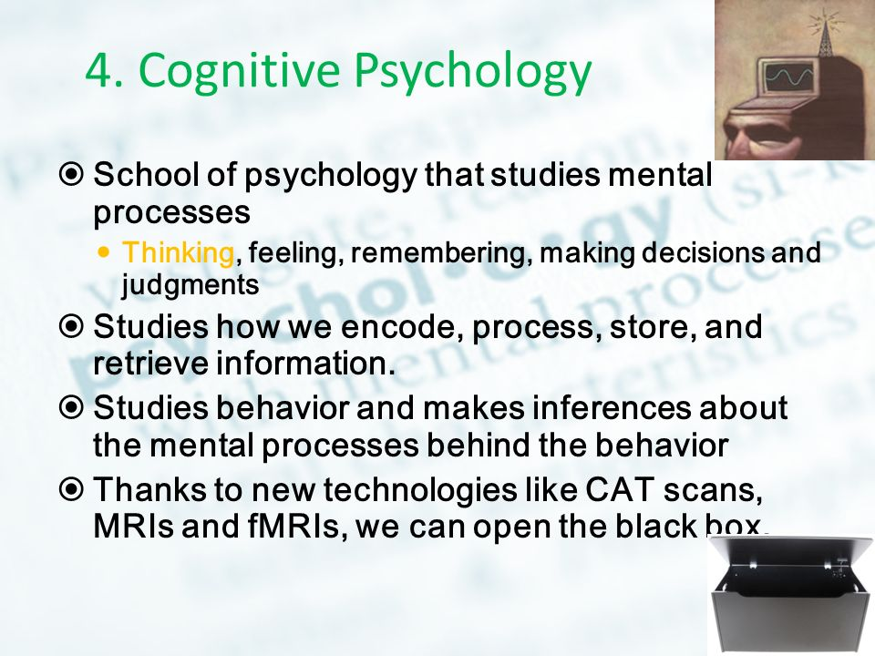 """the cognitive psychology behind the movie Cognitive behavioural psychotherapy has been known to be the most efficient type of psychotherapy when treating a psychological problem cognitive therapy is """"therapy that teaches people new, more adaptive."""