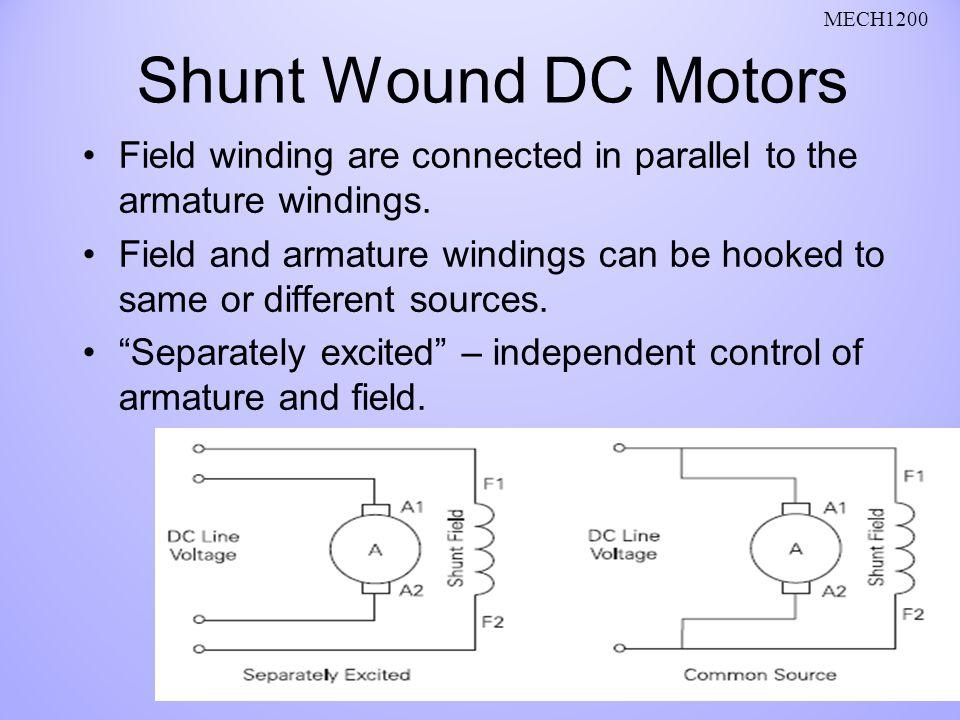 Dc Motor Field Winding