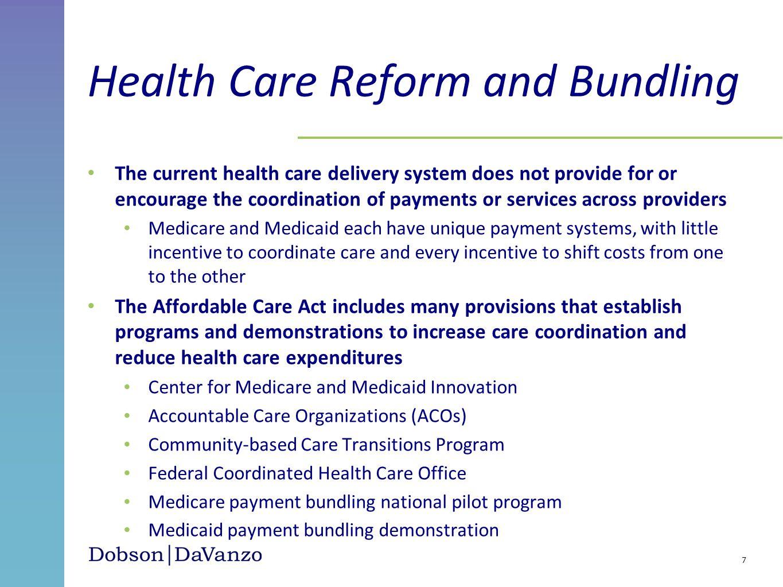 Health Care Reform and Bundling
