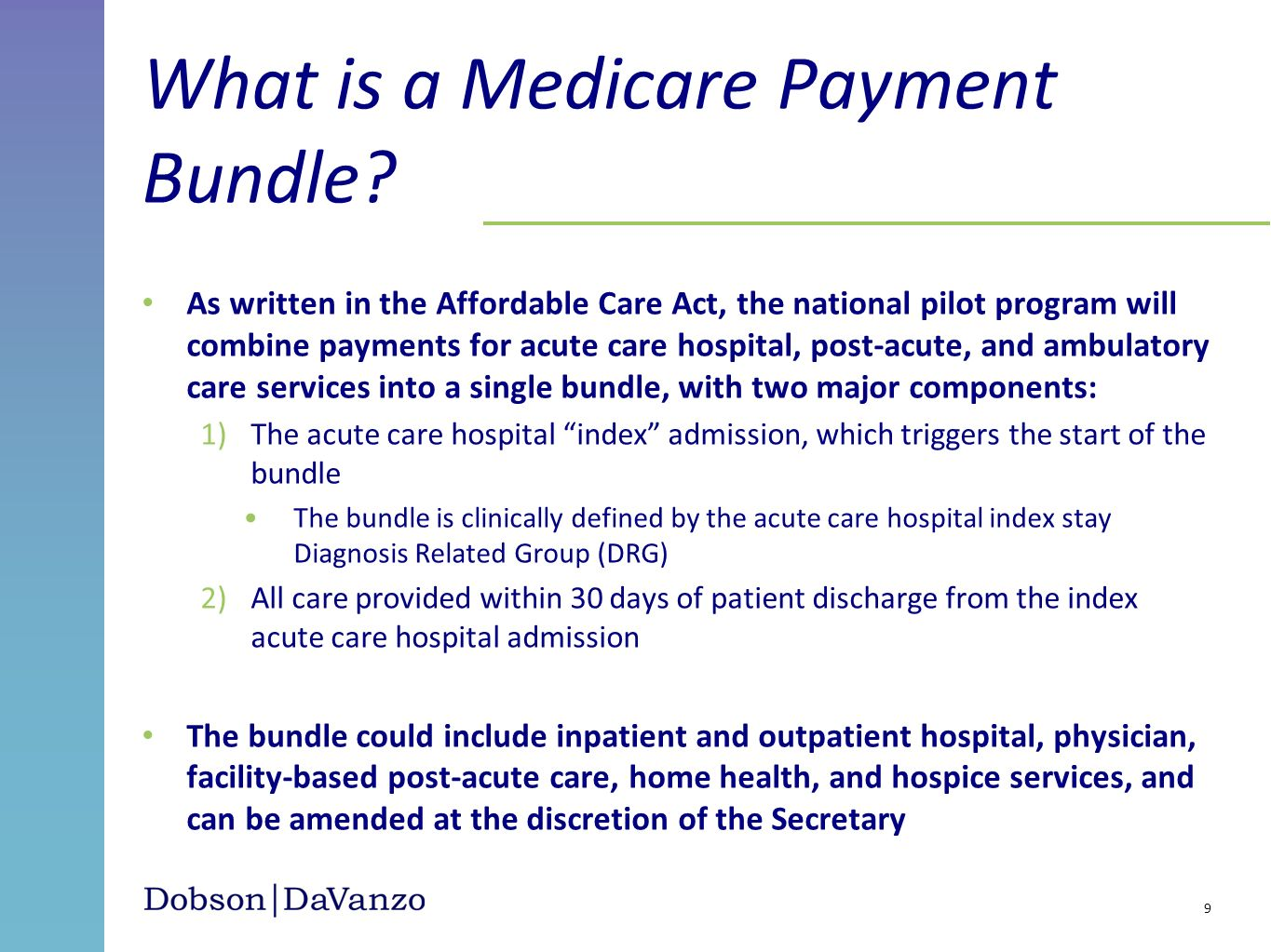 What is a Medicare Payment Bundle