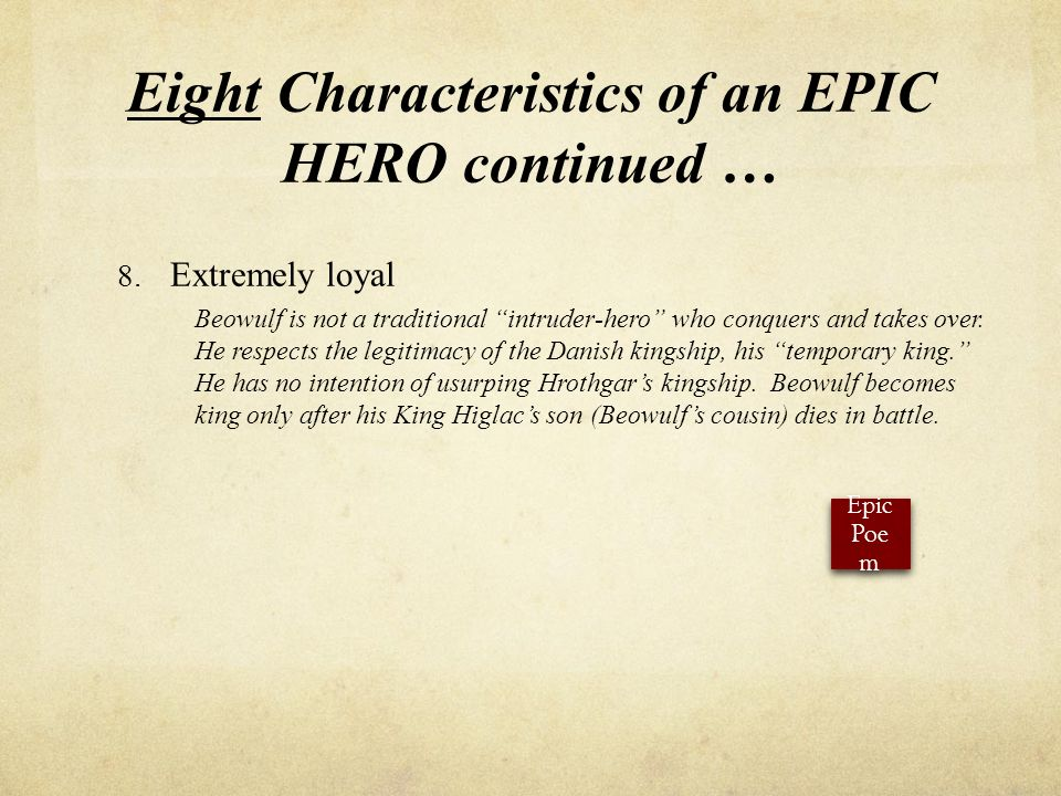 What Characteristic Is Typical of Heroes in Anglo-Saxon Epic Poems as It Applies to