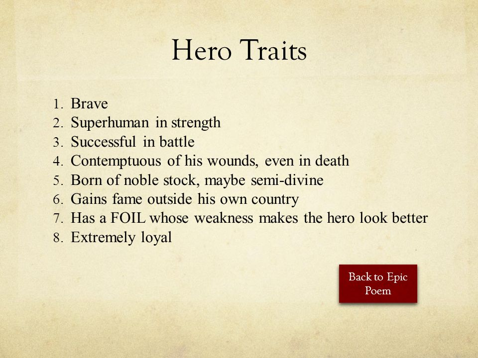 a comparison between the heroic traits of loyalty bravery and super human strength of beowulf and gi
