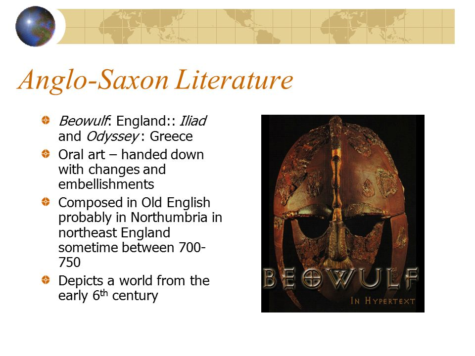 an analysis of the christian influence on the epic anglo saxon poem beowulf Home » essay topics and quotations » beowulf thesis statements and  in anglo-saxon society as reflected in beowulf  poem itself is worthy of study and .