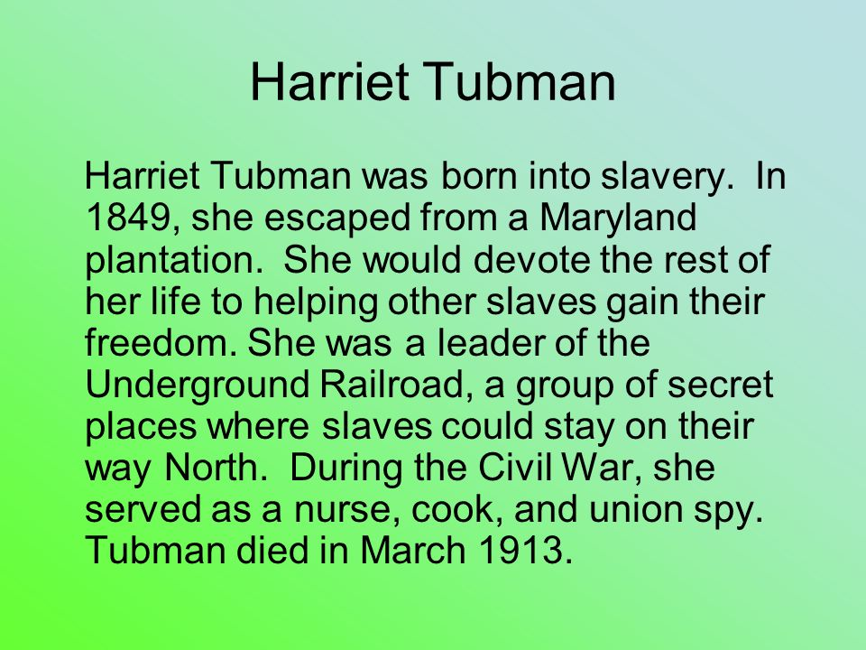 harriet tubman and secret passage