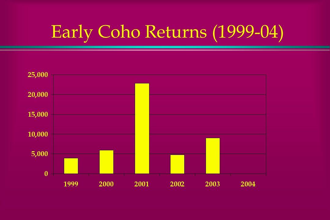 Early Coho Returns (1999-04)