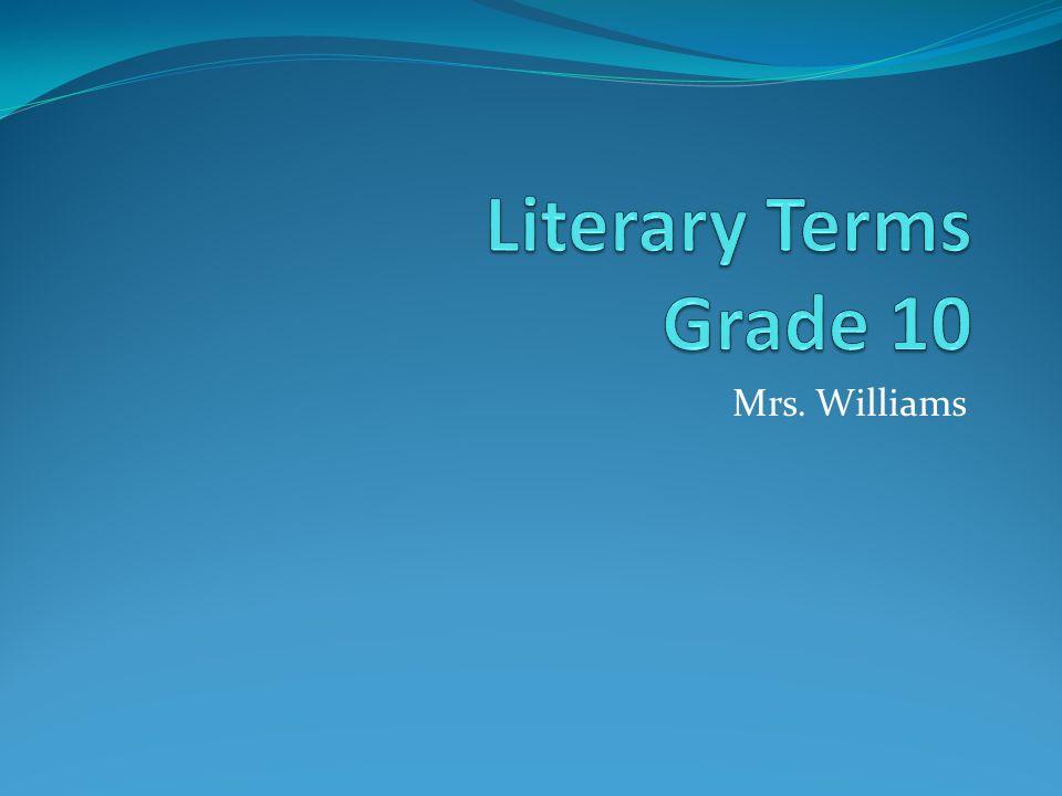 10 literary terms