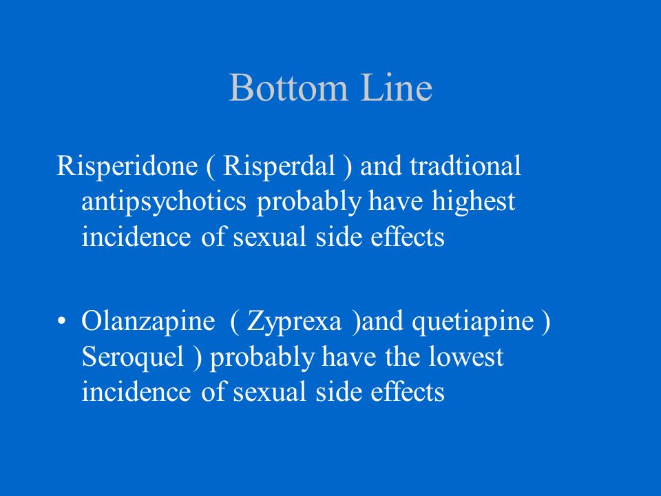 respiridone and sexual function