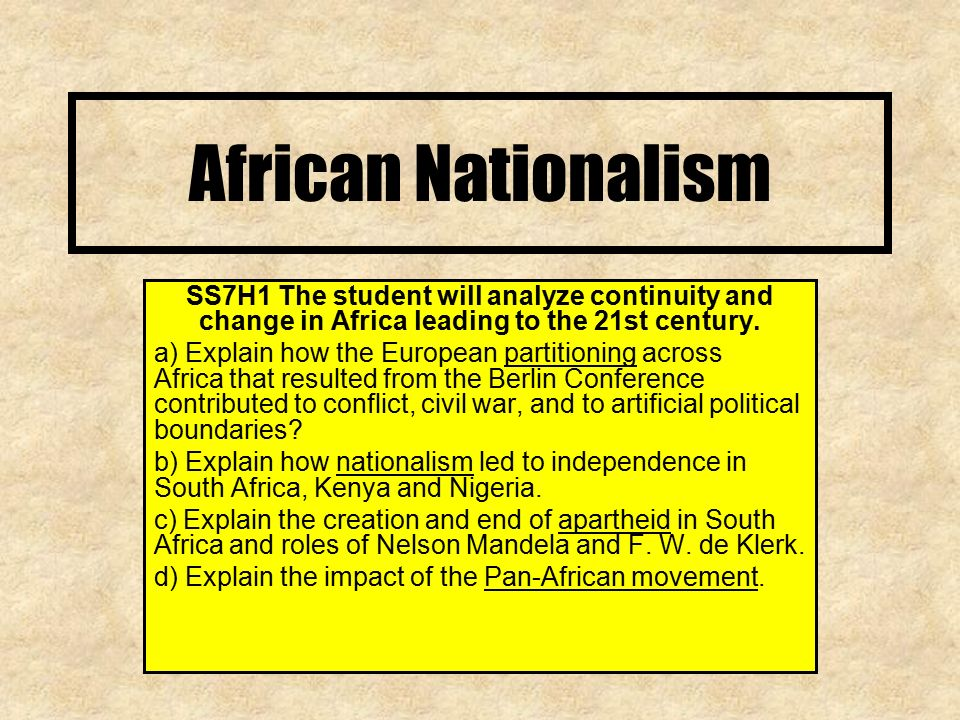 european nationalism in africa A summary of imperialism in asia (1830-1900) in 's europe 1871-1914 , along the west african coast, at the southern tip of africa, and, most importantly.