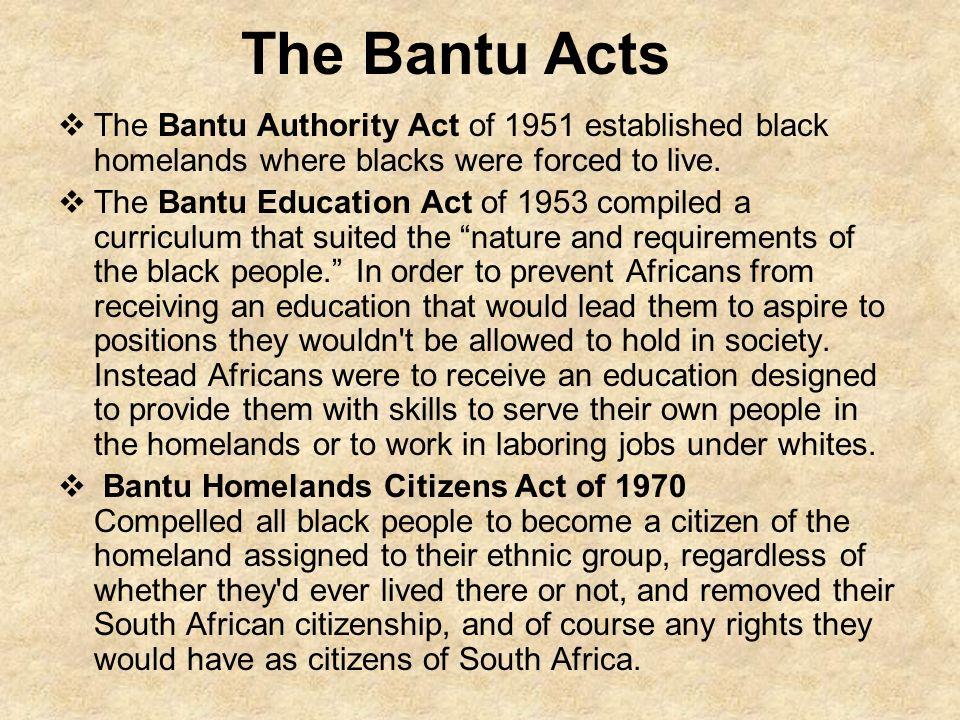 essay about bantu education