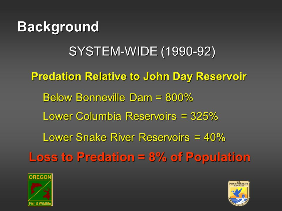 Background SYSTEM-WIDE (1990-92) Loss to Predation = 8% of Population