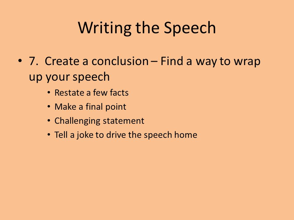 How to write a conclusion for your speech