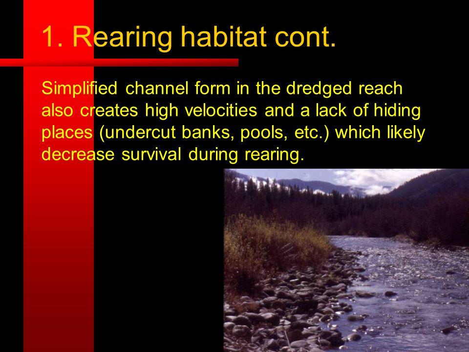 1. Rearing habitat cont.