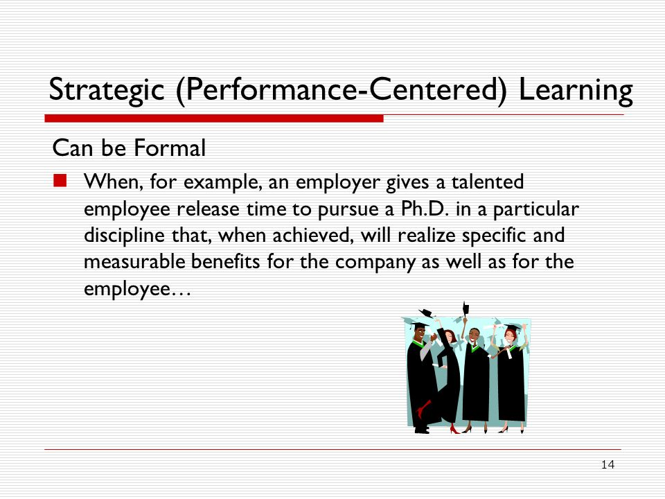 Strategic (Performance-Centered) Learning