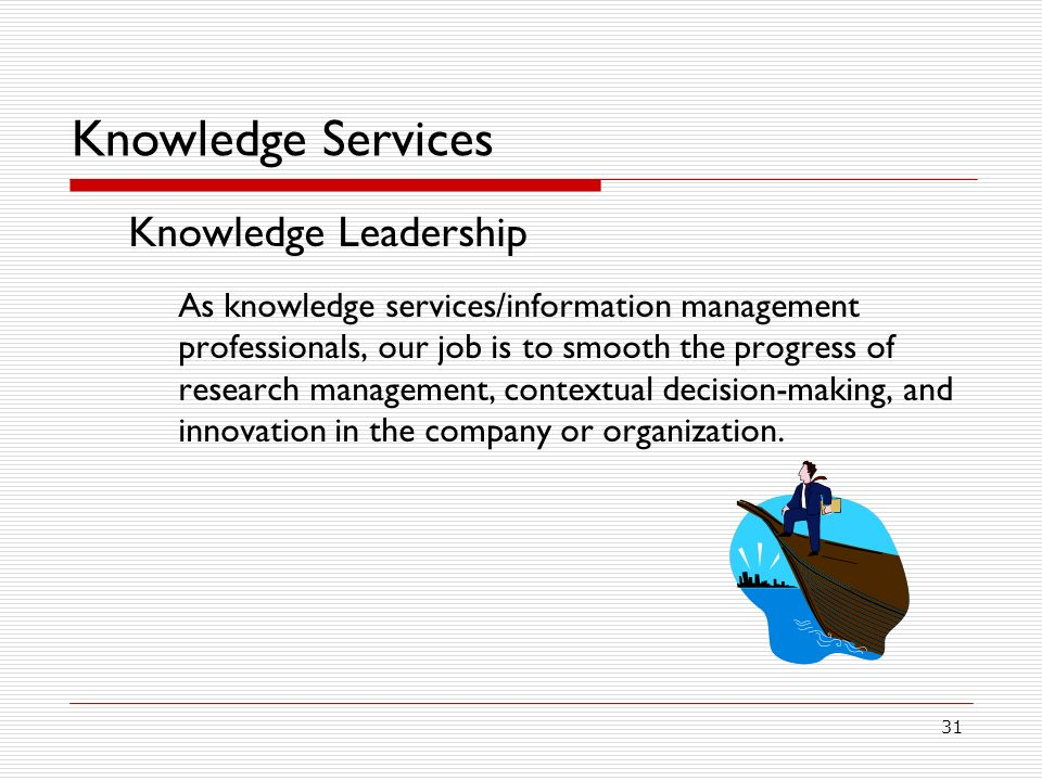 Knowledge Services Knowledge Leadership