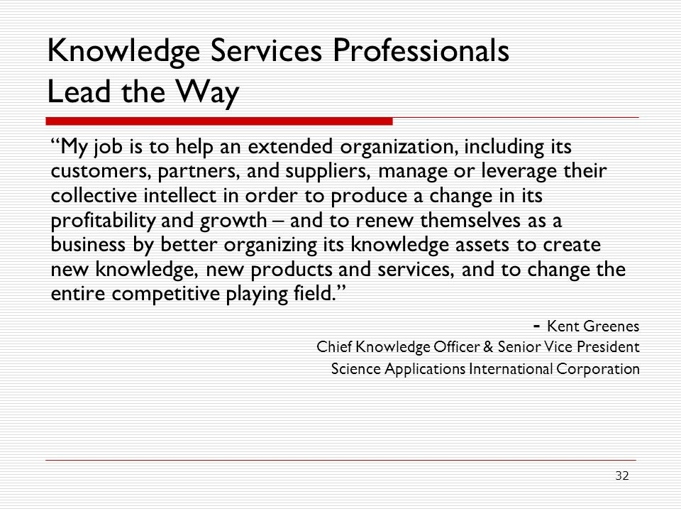Knowledge Services Professionals Lead the Way