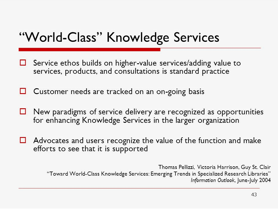 World-Class Knowledge Services