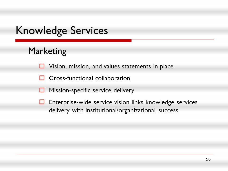 Knowledge Services Marketing