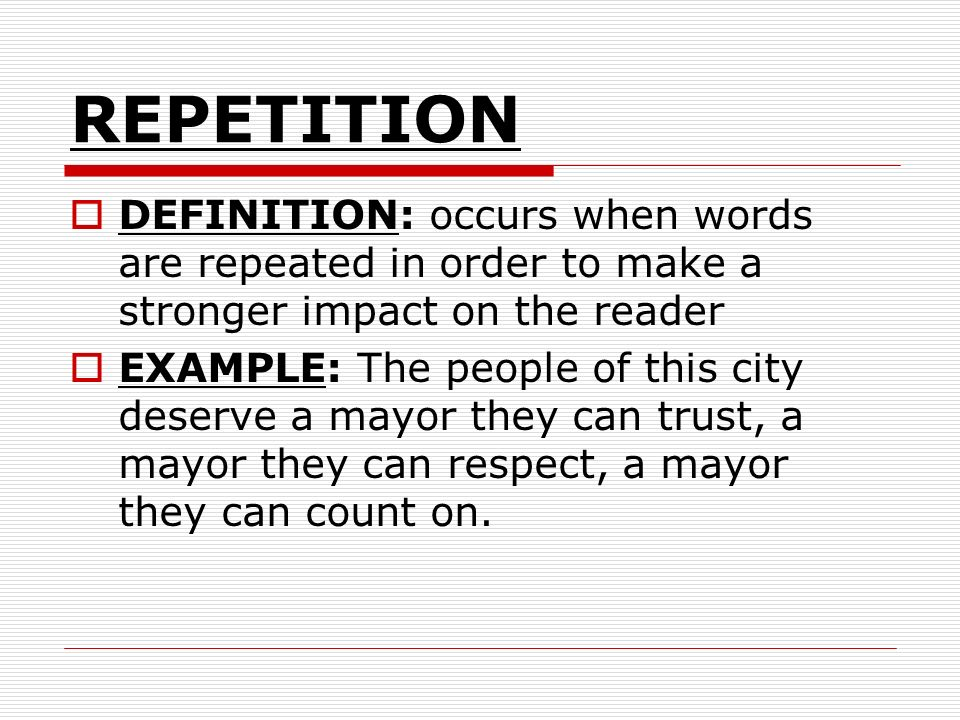 repetition in writing essays Repetition in poetry can be a very powerful tool to use in this lesson, we will discuss what repetition is and how it can be used effectively we.