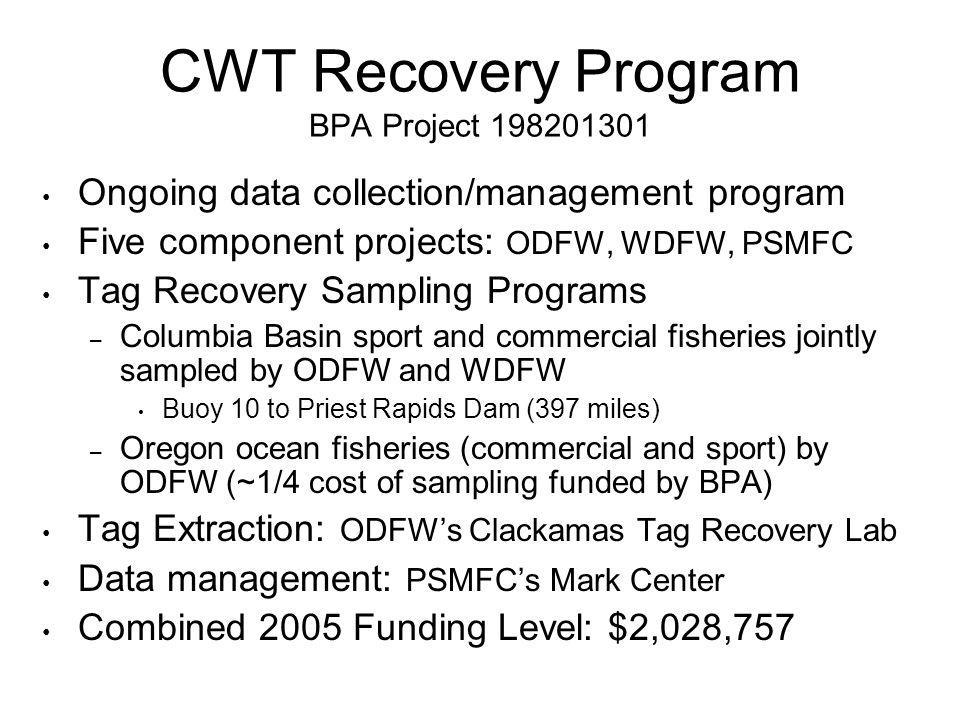 CWT Recovery Program BPA Project 198201301