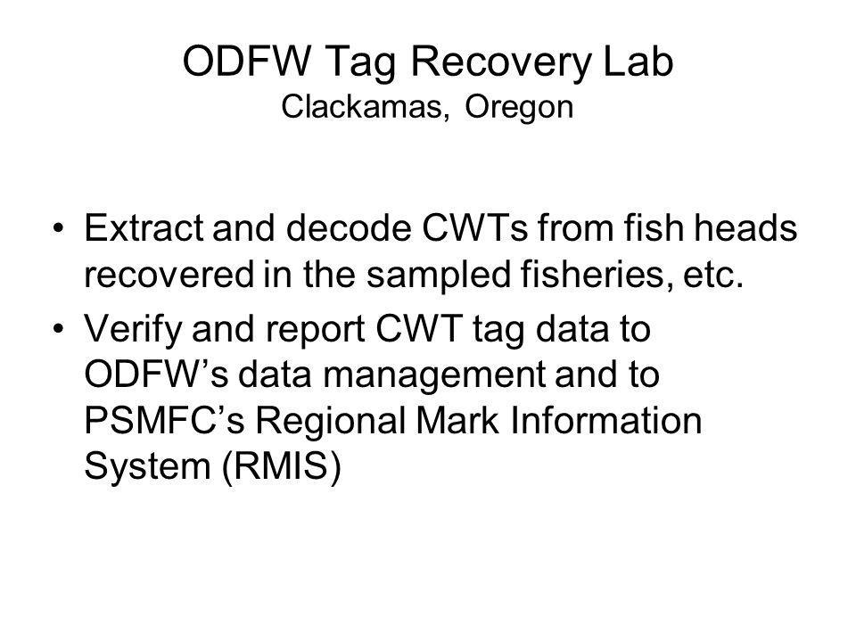 ODFW Tag Recovery Lab Clackamas, Oregon