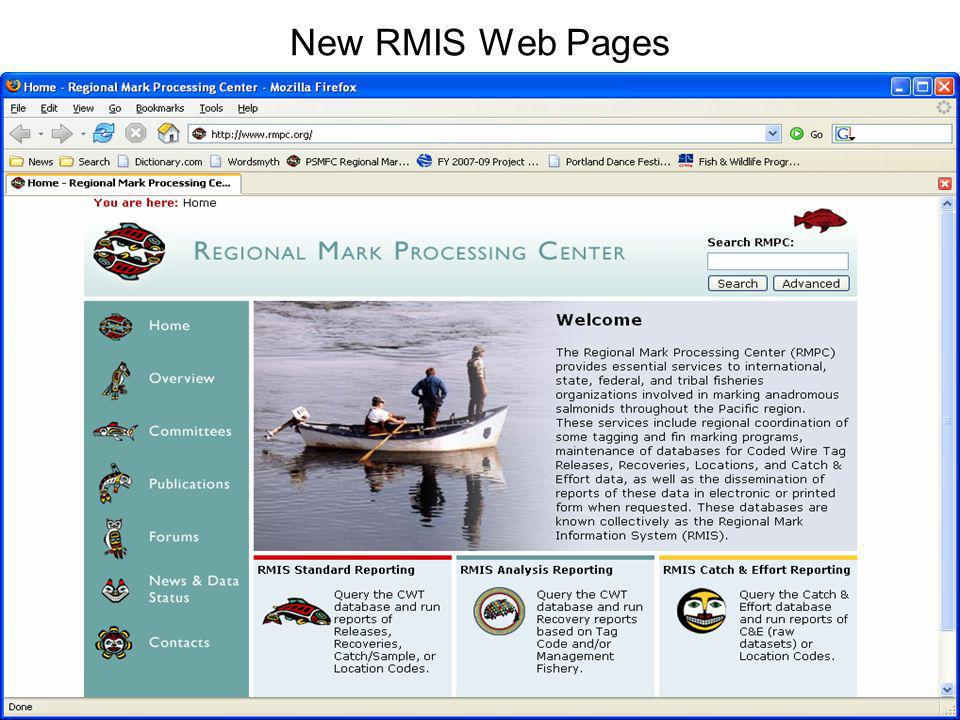 New RMIS Web Pages