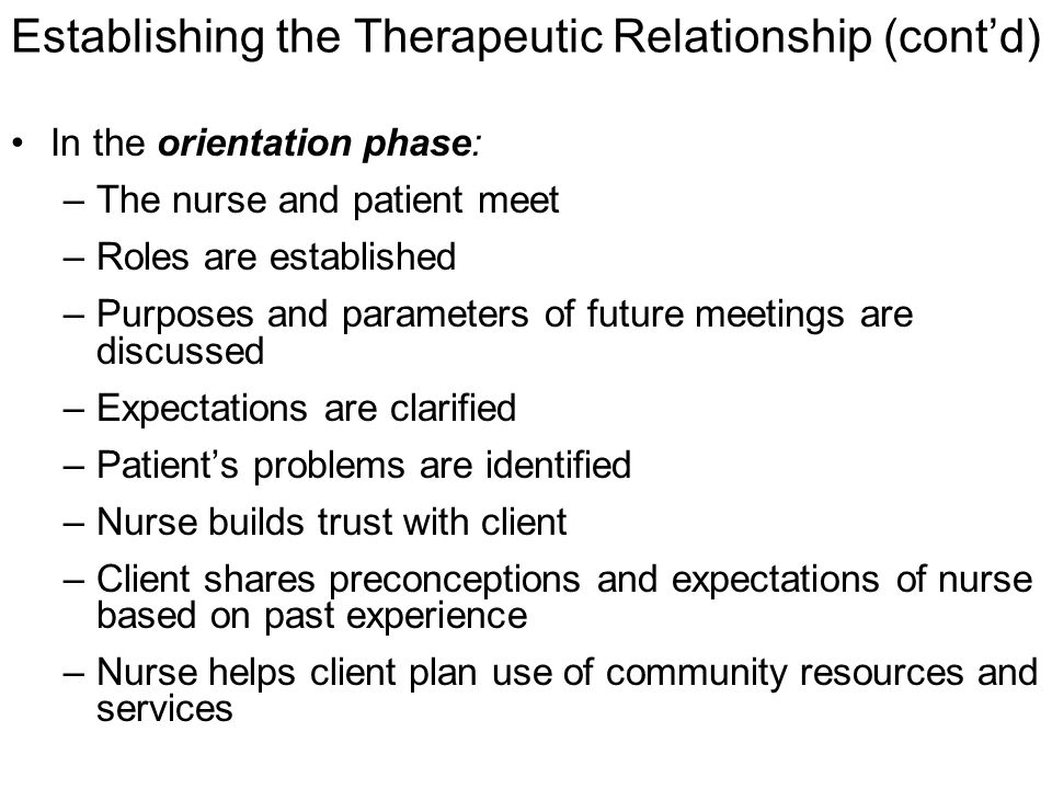 meaning and purpose of therapeutic relationship