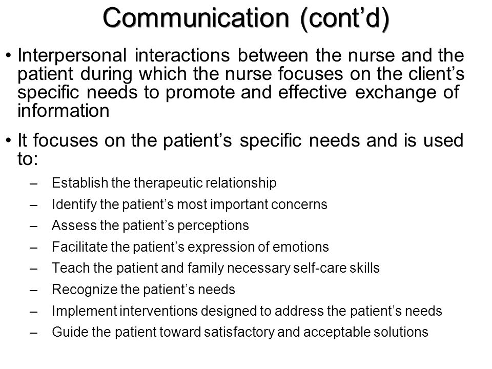 effective personal healthcare communication with patients clients Impact of communication in healthcare 20% felt it was against their personal beliefs effective physician-patient communication and health outcomes.