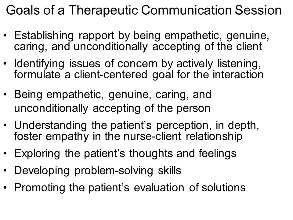 nurses communication skills and the therapeutic relationship