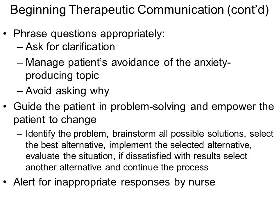 how to build a therapeutic relationship with a patient