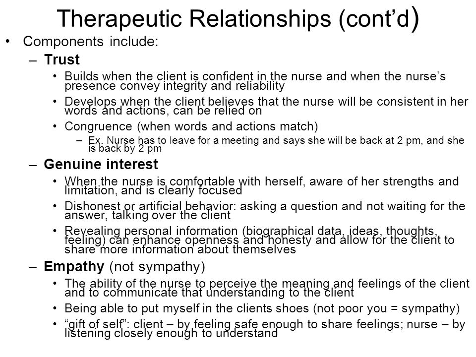 Relationship Development and Therapeutic Communication - PowerPoint PPT Presentation
