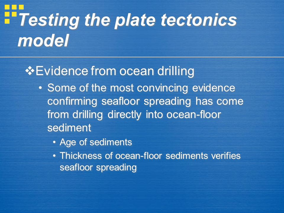 Earths layered structure ch 84 in the text ppt for Evidence for sea floor spreading has come from