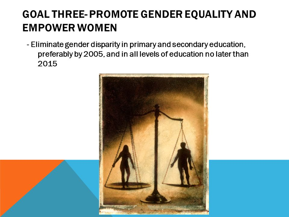Goal three- Promote gender equality and empower women