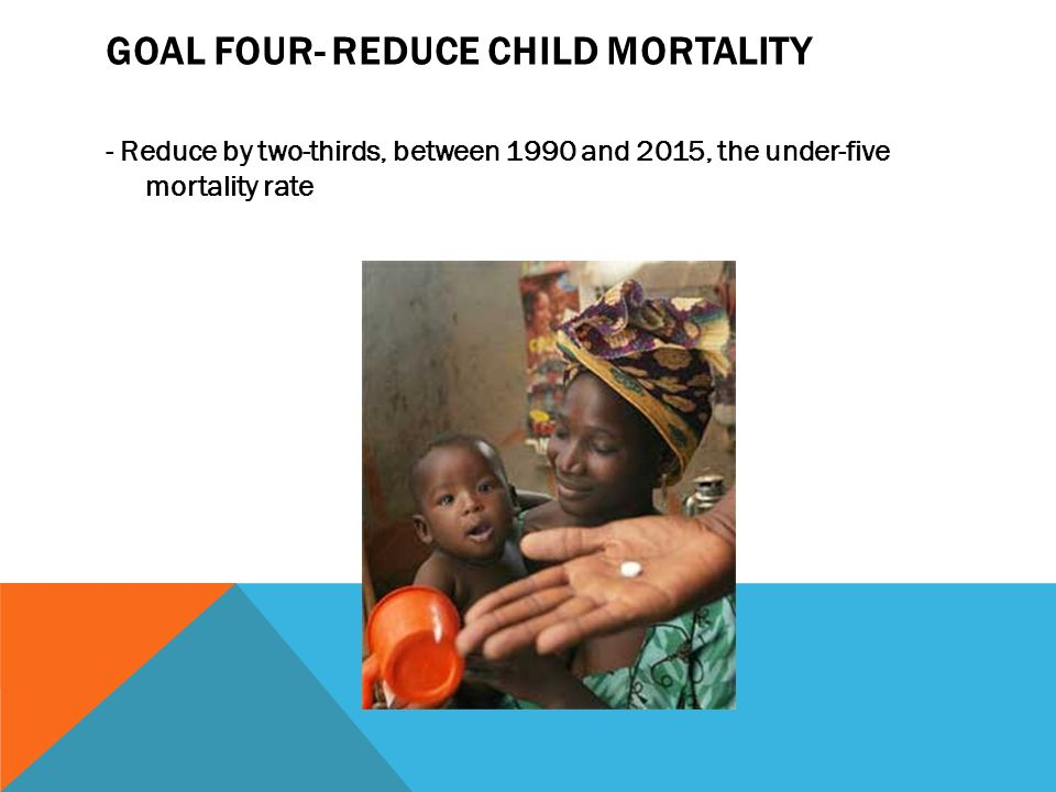 Goal four- Reduce child mortality