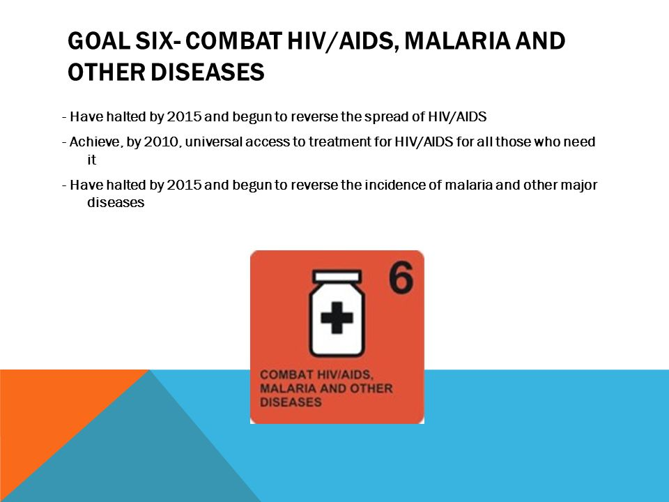 Goal six- Combat HIV/AIDS, malaria and other diseases