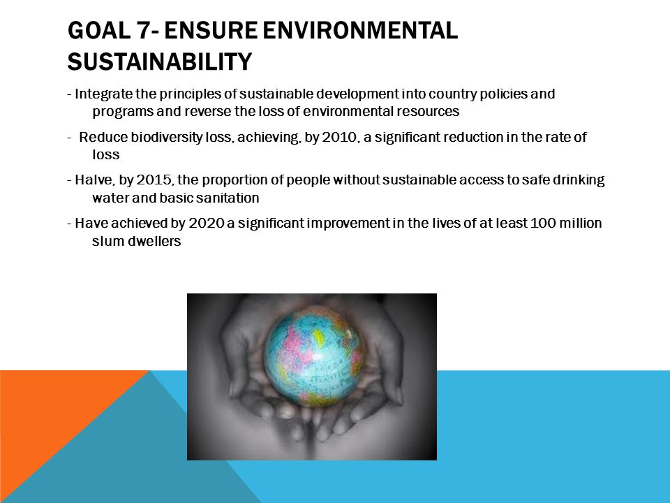 Goal 7- Ensure environmental sustainability
