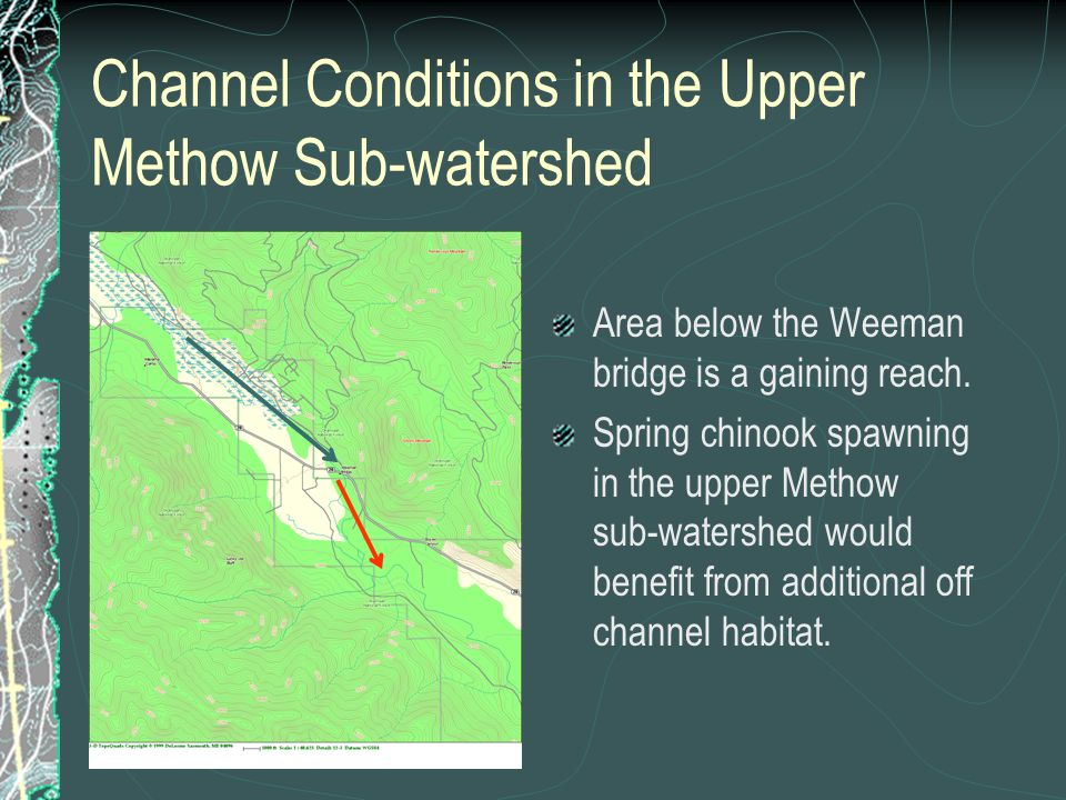 Channel Conditions in the Upper Methow Sub-watershed