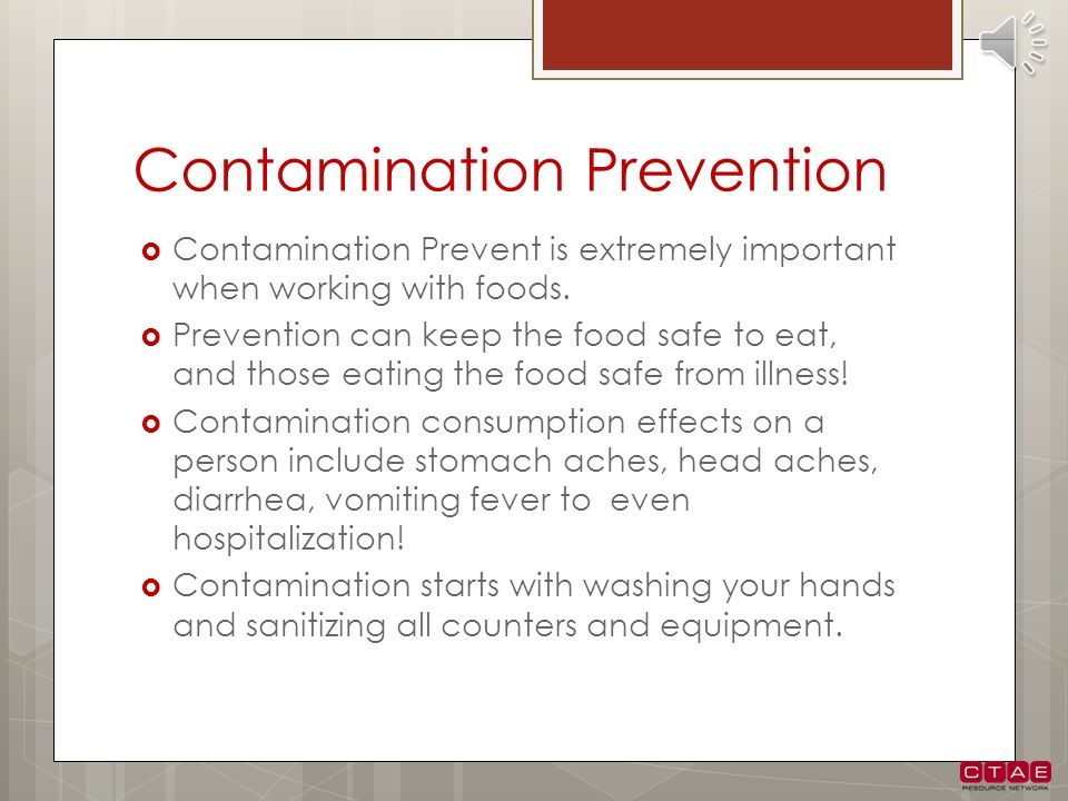 Contamination Prevention