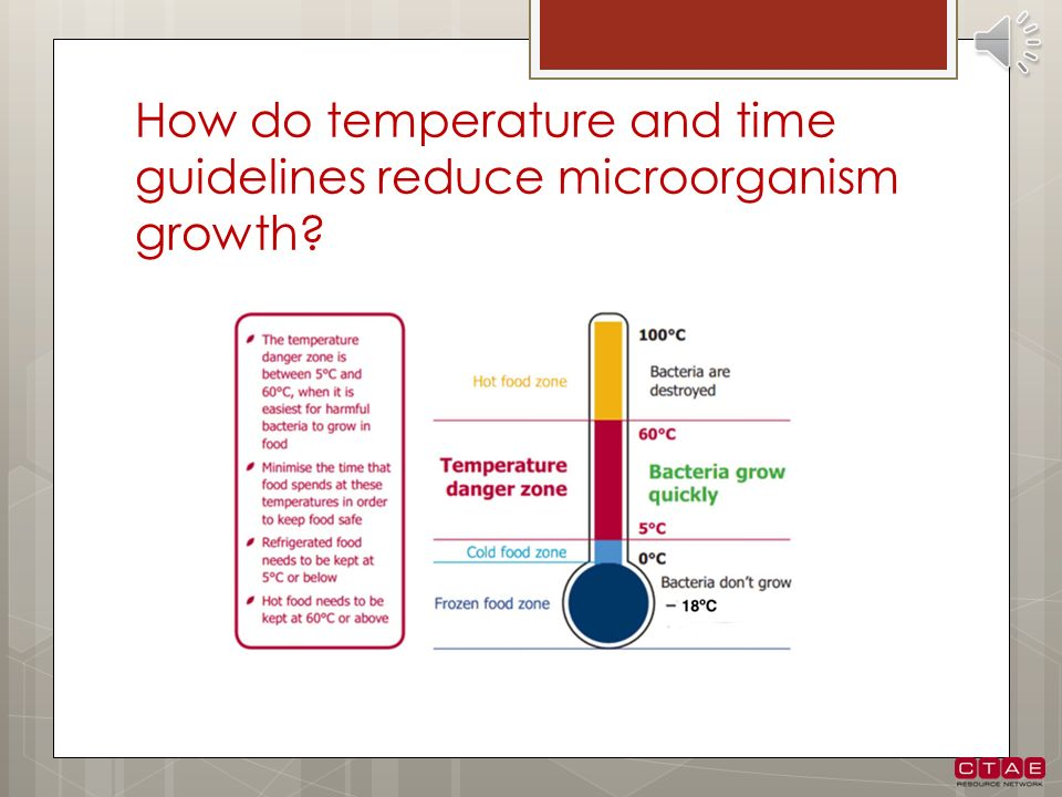 How do temperature and time guidelines reduce microorganism growth