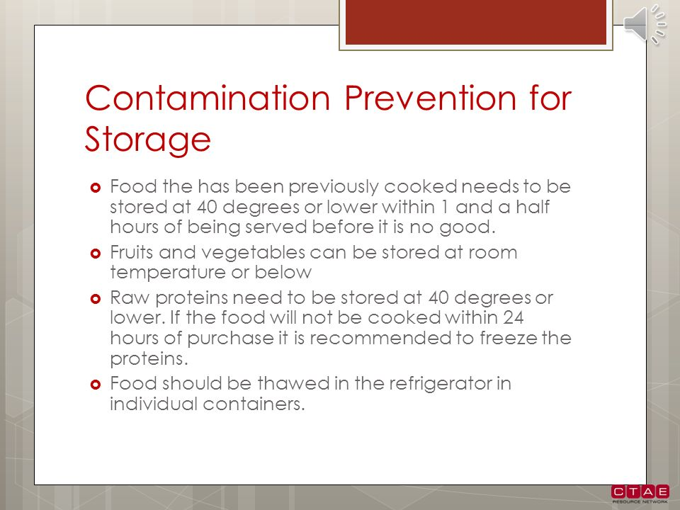 Contamination Prevention for Storage