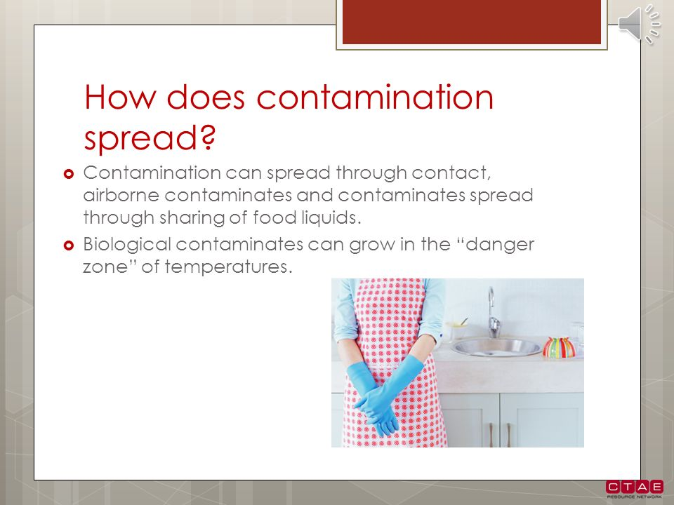 How does contamination spread