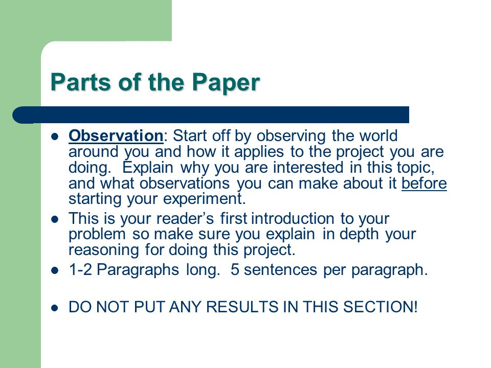 introduction to science research paper Our collection of research paper examples includes outlines, thesis statements,   introduction examples transition examples anthropology research papers   research papers philosophy research papers political science research.