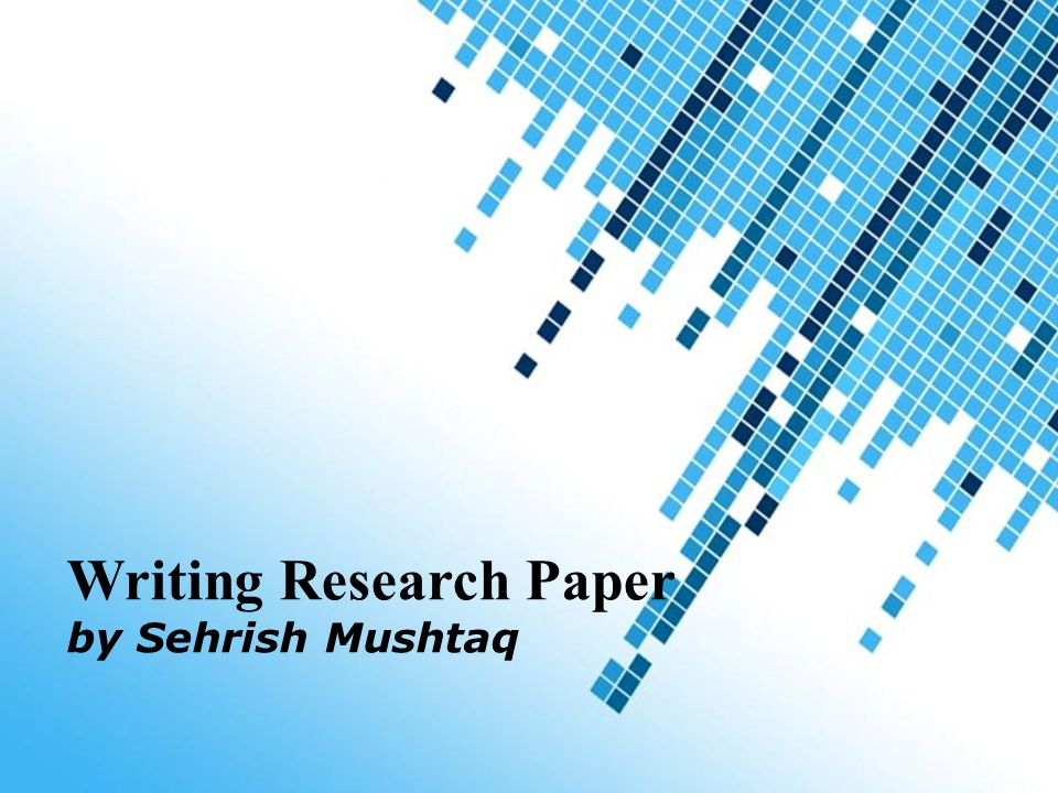 Writing a research paper powerpoint