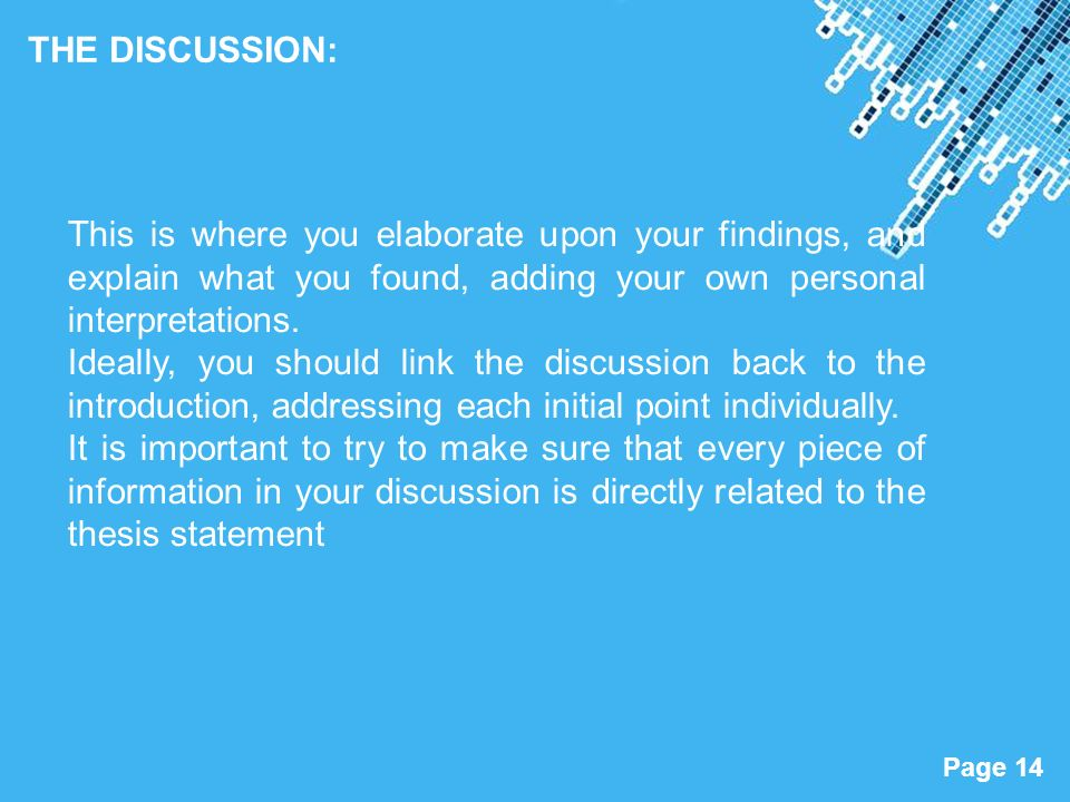 goes discussion section research paper