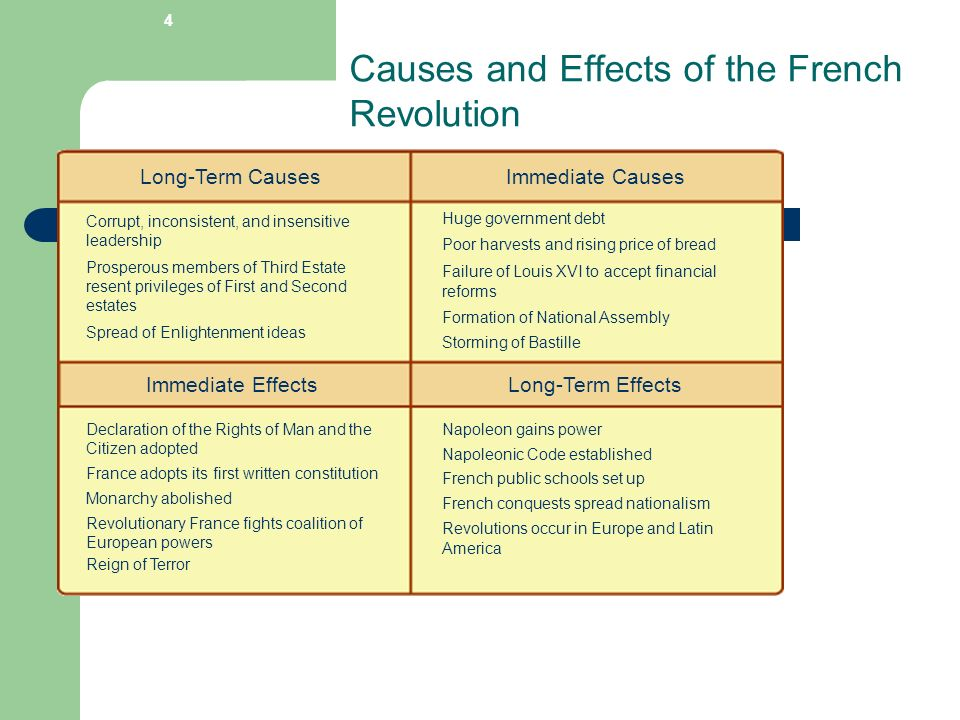 a review on the causes and effects of the french revolution The enlightenment and its effects on faculty mentor 1 t lothrop stoddard, the french revolution the enlightenment and its effects on the haitian revolution.