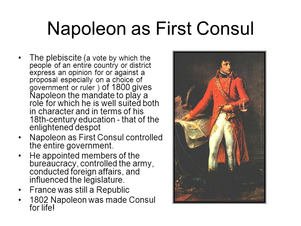 enlightened despotism napoleon Europe under napoleon 1799-1815  the inheritor of both the terror and the type of enlightened despotism practiced by frederick the great and joseph ii.