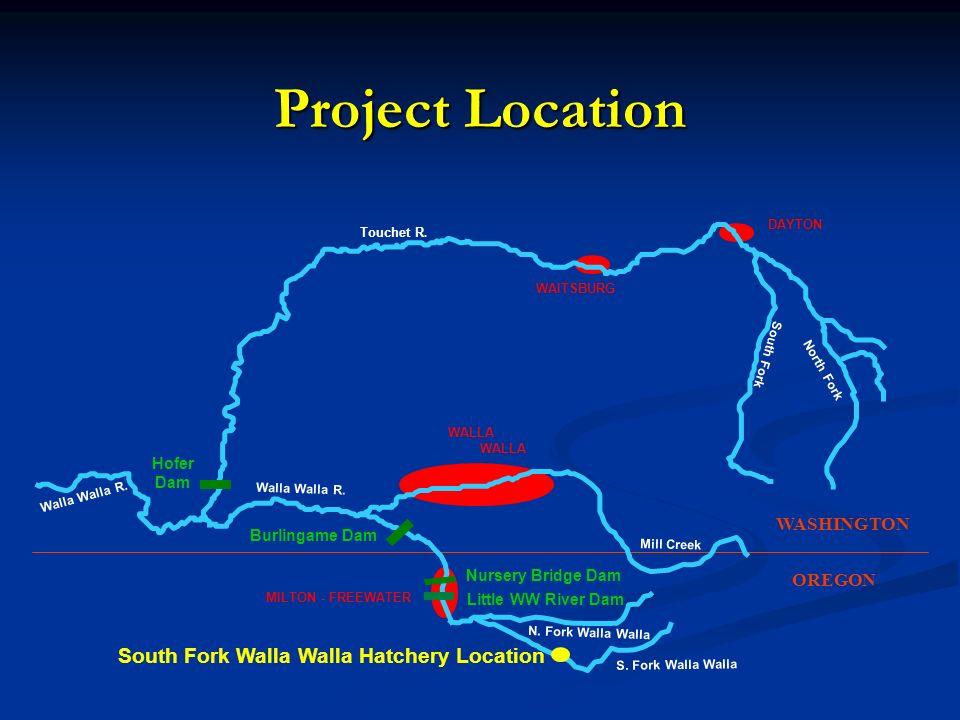 South Fork Walla Walla Hatchery Location
